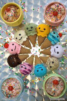 Crochet ice creams
