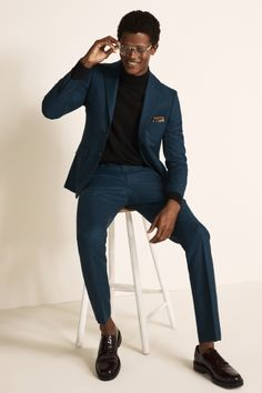 Mens Casual Dress Outfits, Mens Casual Suits, Formal Men Outfit, Mens Fashion Suits, Mens Slim Fit Suits, Mens Suits Style, Guy Prom Outfits, Men's Formal Wear, Classy Mens Fashion