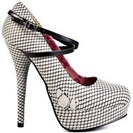 ripped fishnet heels