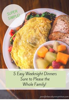"""After a long day of work, or home schooling, or parenting, do you get the dreaded question, """"What's for dinner?"""" Here's your answer! I have some healthy dinner ideas that are quick and easy and that the whole family will love! They are perfect for quick w Crockpot Recipes, Healthy Recipes, Healthy Food, Eating Healthy, Delicious Recipes, Easy Recipes, Clean Eating, Cooking Recipes, Quick Weeknight Dinners"""
