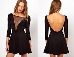 413bc4ea2eb2 See-Through Black Dress High Fashion Looks