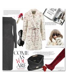 """This Coat!"" by arethaman ❤ liked on Polyvore featuring Balenciaga, Oris, Elizabeth and James, Salvatore Ferragamo, women's clothing, women's fashion, women, female, woman and misses"
