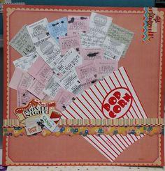 scrapbooking idées créatives DIY en tickets de cinéma