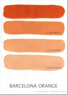 """Barcelona Orange Excellent info from Ciruelo Interiors Blog; """"Annie Sloan Chalk Paint lovers: Here is my extended colours range"""" show how the colors can be mixed to achieve huge color range~"""