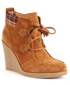 Tommy Hilfiger Shoes, Jade Platform Wedge Booties - All Women's Shoes - Shoes - Macy's