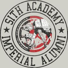 Sith Academy is a T Shirt designed by StarWars to illustrate your life and is available at Design By Humans