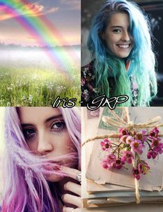 Iris, personificación del arco iris.
