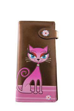 Shagwear Diva Kitty Large Bronze Wallet (Purse)