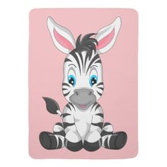 Shop Cartoon Zebra Baby Blanket created by Personalize it with photos & text or purchase as is! Zebra Cartoon, Black Cartoon, Cute Cartoon, Baby Zebra, Young Baby, Soft Baby Blankets, Animation Background, Consumer Products, Cool Patterns