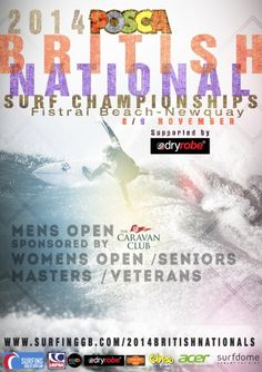 It is not long until the National Surf Championships which is also the last stop on the UK Pro Surf Tour for 2014. It is on the 8 & 9th November at Fistral always an amazing event with the best surfers in the UK