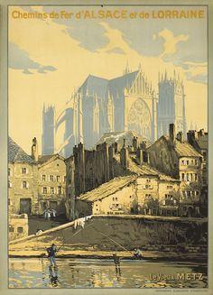 Marks, F., Le Vieux Metz - Chemins de Fer d'Alsace et de Lorraine, (1920 ca.)