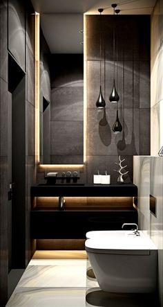 37 Modern Apartment Bathroom Designs Ideas For Men – Badezimmer Ideen Apartment Bathroom Design, Bathroom Layout, Modern Bathroom Design, Bathroom Interior Design, Bathroom Ideas, Bathroom Organization, Boho Bathroom, Bathroom Cabinets, Bathroom Vanities