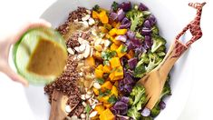 Red Kuri Squash and Quinoa Salad with Maple Dijon Dressing : Preheat the oven to 400°F and line two sheet pans with parchment paper. Toss together th…