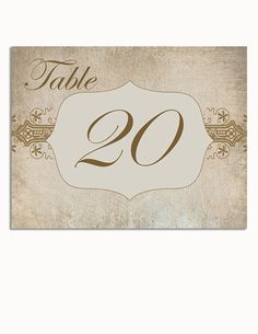 Wedding Table numbers - Vintage Wedding Table Numbers by CurlyGurlycouture on Etsy, $37.50