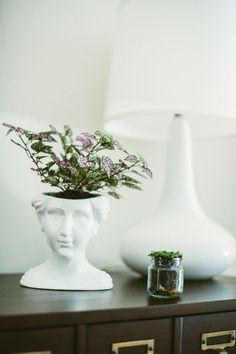 Fabulous vase | Photography: Yazy Jo - yazyjo.com  Read More: http://www.stylemepretty.com/living/2014/09/22/la-la-lovely-home-tour/