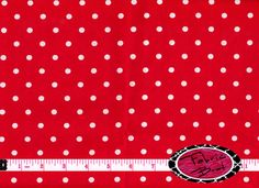 RED & White POLKA DOT Fabric by the Yard Half Yard or Fat Quarter