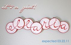 Running With Scissors: Baby Name with Embroidery Hoops