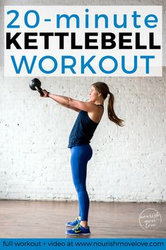 7 Calorie Torching Kettlebell Exercises kettlebell exercises kettlebell workout HIIT workout workout at home strength training Nourish Move Love Best Kettlebell Exercises, Full Body Kettlebell Workout, Kettlebell Cardio, Kettlebell Training, Kettlebell Challenge, Fitness Exercises, Kettlebell Benefits, Workout Diet, Workout Fun