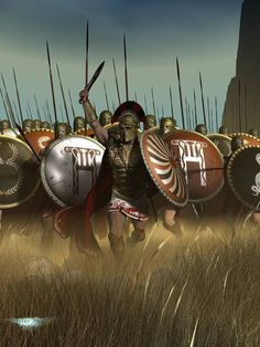 The Greek charge at Plataea
