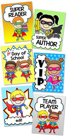 Encourage good behavior and goal achievement with these 50 fun Superhero editable brag tags in PowerPoint format! Type your own sayings into the text boxes to get the exact wording you would like.