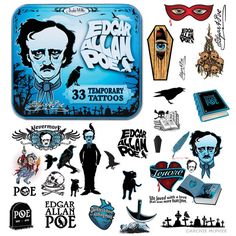 This site is filled with weird and useless gifts. such as Edgar Allan Poe Tattoos
