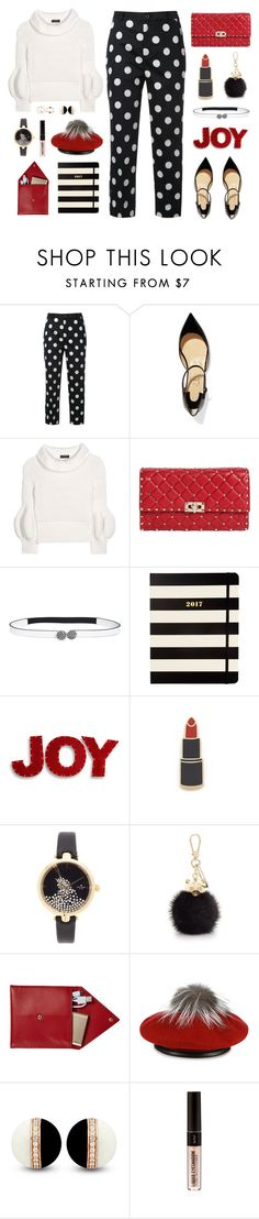 """""""Joyous Time of The Year"""" by celida-loves-pink ❤ liked on Polyvore featuring Guild Prime, Christian Louboutin, Burberry, Valentino, Marni, Kate Spade, National Tree Company, Georgia Perry, Furla and STOW"""