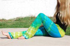 AkashaSun Key Largo Blue Tie Dye Yoga Pants | www.downdogboutique.com