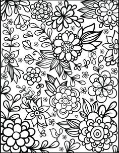 Coloring Cool Inspiration Floral Pages Free Printable Flow On Flower For Kids Printabl