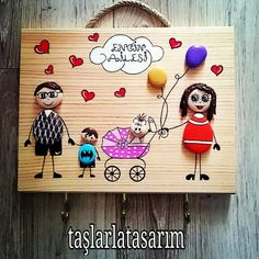 Pebble Painting, Pebble Art, Stone Painting, Easy Paper Crafts, Diy Arts And Crafts, Stone Crafts, Rock Crafts, Family Tree Frame, Diy Crafts Hacks