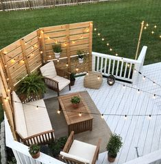 Deck Makeover Part II 2019 Shape and Color! The post Deck Makeover Part II 2019 appeared first on Backyard Diy. Deck Makeover, Backyard Makeover, Back Patio, Small Patio, Patio Set Up, Small Outdoor Spaces, Small Pergola, Modern Pergola, Small Yards