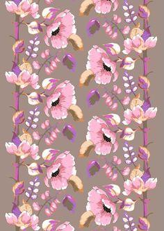 Vallila - Silkkisuukko pink fabric by Tanja Orsjoki