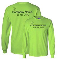 Lawn Care Service Work Shirt Custom Print for