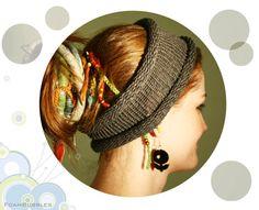 Dreadlocks Band. Knitted Hair wrap. Knitted Dread Band. Knit Hair band. Unisex Head Band. Women Hair band. Men Hair band. Matte yarn on Etsy, 10.00