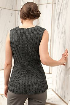 Good shaping for the waist. Ravelry: Form | Merge pattern by Lori Versaci