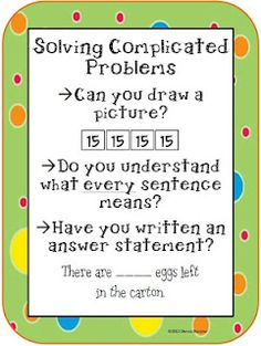 Math Coach's Corner: Solving Complicated Problems