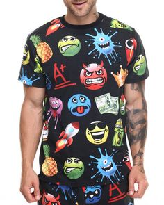 Find Allover Emoji print s/s tee Men's Shirts from Buyers Picks & more at DrJays. on Drjays.com