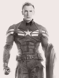Captain America in black and white, still.awesome