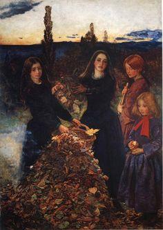 John Everett Millais Autumn leaves modelo central, Sophie Gray, hermana de Effie