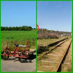 Fietsen over oud spoor, Nørre Nebel DK