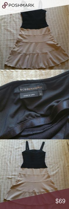 """Bcbgmaxazria Dress size 0 Excellent condition Measures : Bust 14"""" length 37"""" waist 13""""  the material of this dress is very very stretchy. BCBGMaxAzria Dresses Midi"""