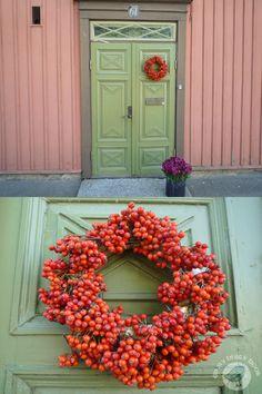 wreath with rowan berries