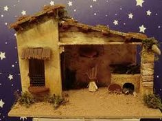 Risultati immagini per casas para pesebres Christmas Nativity Scene, Christmas Crafts, Christmas Decorations, Merry Christmas, Pop Tab Crafts, Nativity Stable, Star Of Bethlehem, Putz Houses, Paper Houses