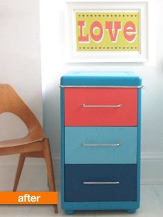 Before & After: Rusty Filing Cabinet