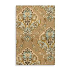 Rizzy Home Volare Jasmine 2-Foot 6-Inch x 7-Foot 6-Inch Latte Wool Rug - BedBathandBeyond.com