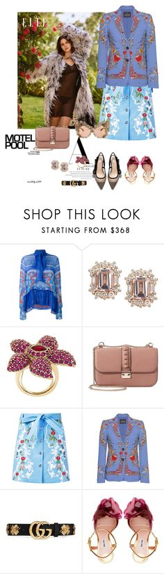 """The flower ..."" by katelyn999 ❤ liked on Polyvore featuring Mary Katrantzou, Oscar de la Renta, Valentino, VIVETTA, Roberto Cavalli, Gucci, Miu Miu and Dolce&Gabbana"