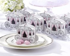 These beautiful Cinderella's Carriage Favor Boxes are perfect for wedding favors, Sweet 16 party favors, or birthday party favors! Fill with your favorite candy for a sweet treat for your guests.