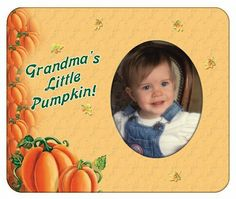 "Grandma's Little Pumpkin - Halloween Photo Magnet Frame by Expressly Yours! Photo Expressions. $2.99. ""Suited for standard wallet size photo, 2 1/2"""" x 3 1/2"""""". Great way to enjoy those favorite digital shots. Easy to Mail. Fun Add-on Gift. Showcase your favorite photos on the fridge easily with Photo Expression Magnets. Standard wallets fit perfectly behind the die-cut the oval opening... and are guaranteed not to fall off when you close the fridge door! These magnet..."