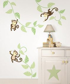 Take a look at this Monkeying Around Wall Decal Set by WallPops! on #zulily today!