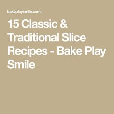 The ultimate collection of 15 classic & traditional slice recipes. including all the old fashioned favourites your grandma used to make! Paleo Recipes, Baking Recipes, Dessert Recipes, Desserts, Peppermint Slice, Jelly Slice, Sweet Treats, Sweets, Smile