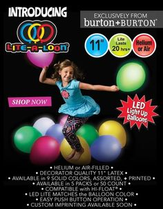 ANNOUNCEMENT: Lite-a-Loon™ Balloons are IN STOCK! We are so excited about this burton + BURTON Exclusive Product and we know you will be too! All parties and events will never be the same! #litealoon #burtonandburton #LEDballoons Learn More + Order HERE: http://www.burtonandburton.com/litealoon/index.asp
